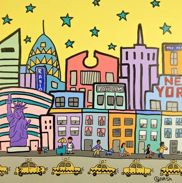 City: New York, just like I pictured it by Brian Nash; 36x36"