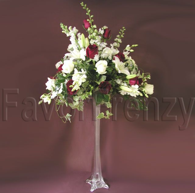 Cylinder vase arrangements rent eiffel tower vases