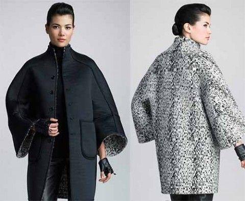 Очень понравилось стильное двустороннее пальто, выкройку которого я нашла в одном из интернет-дневников. Но боюсь, что сшить себе такое смогут только те, кто хорошо разбирается в моделировании и крое…
