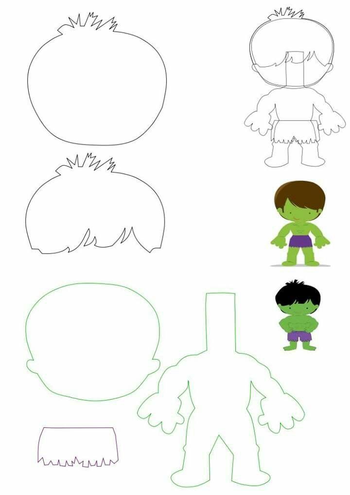 Hulk fieltro   A. A a a decal   Pinterest   Geburtstag ideen, Filz ...