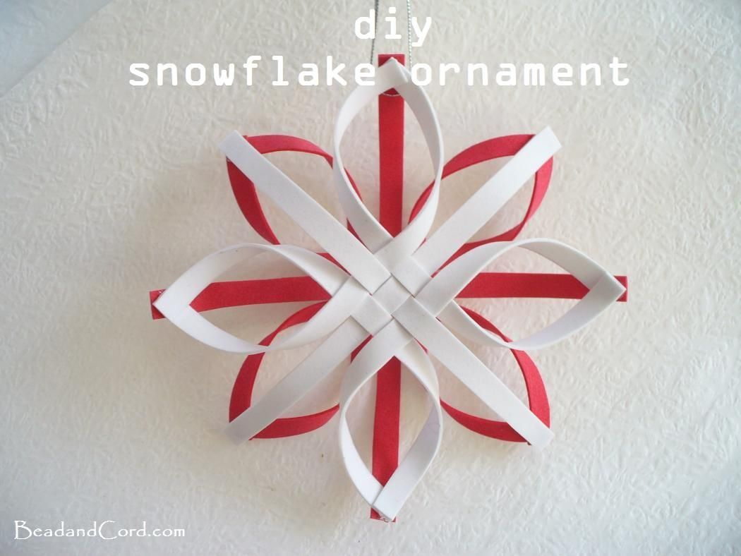 Paper Christmas Tree Ornaments Diy Christmas Ornament Snowflake Ornament Snowflake Ornaments