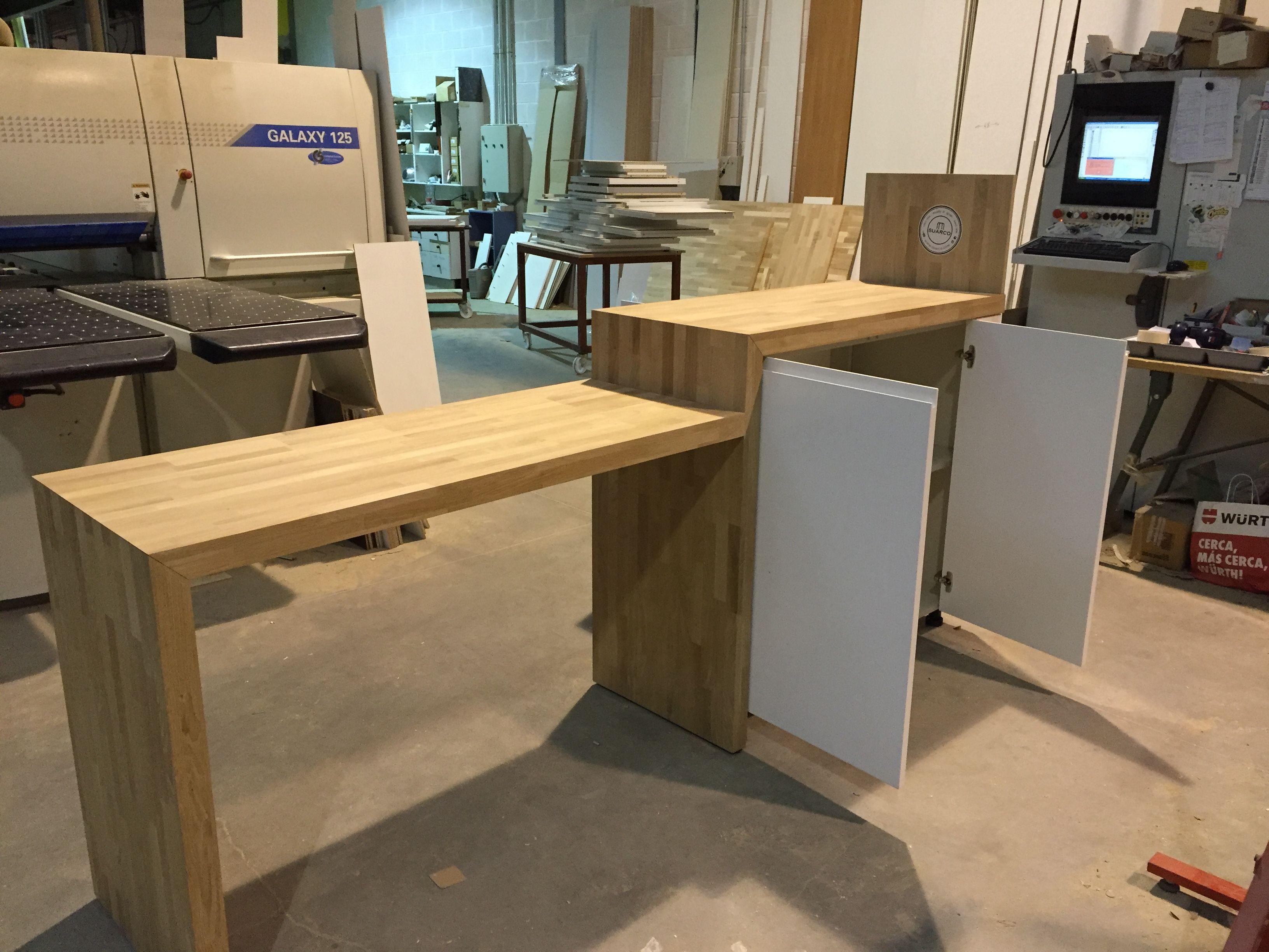 Mesa roble macizo alistonado. Fabricación a medida. | COCINAS SUARCO ...