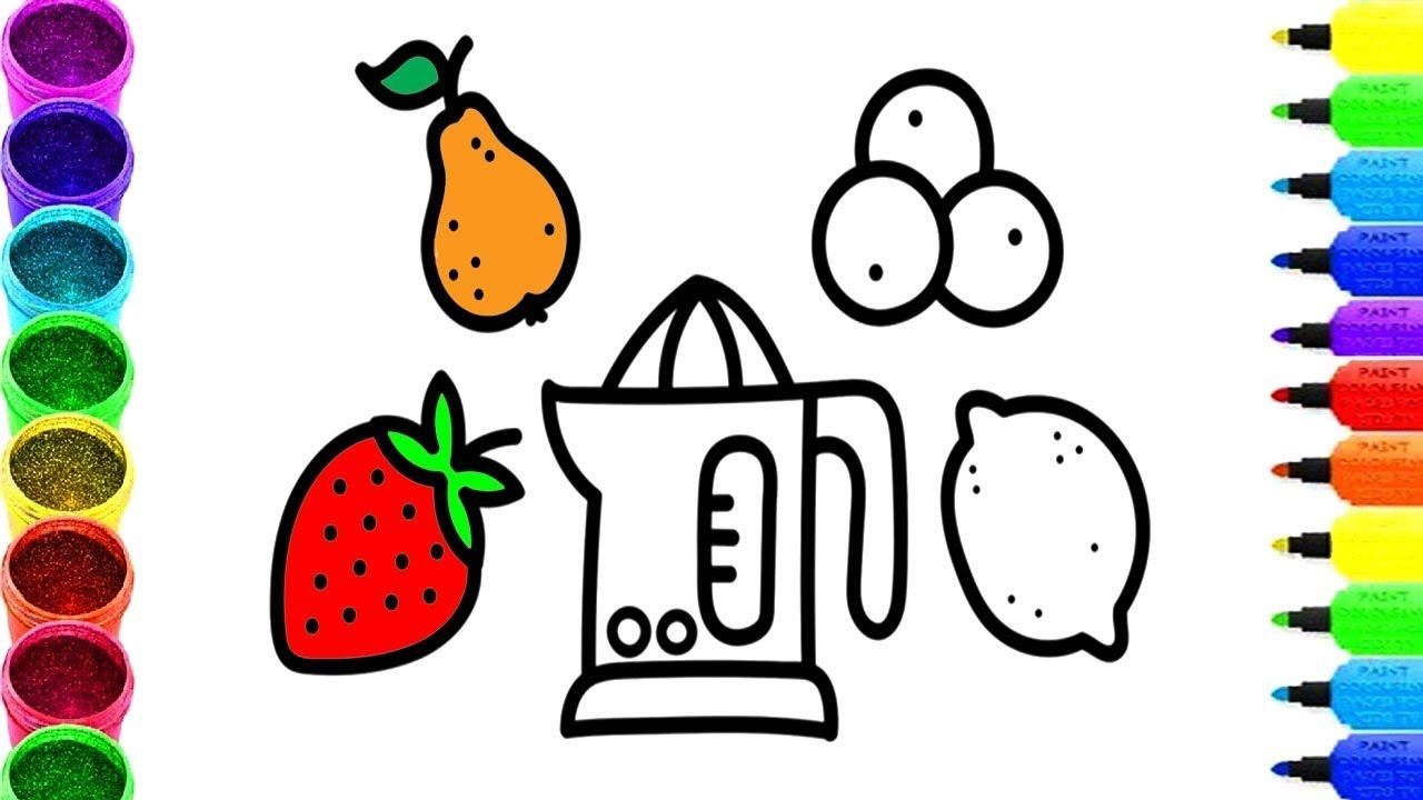 Fruit machine coloring pages how to draw for fruits strawberry