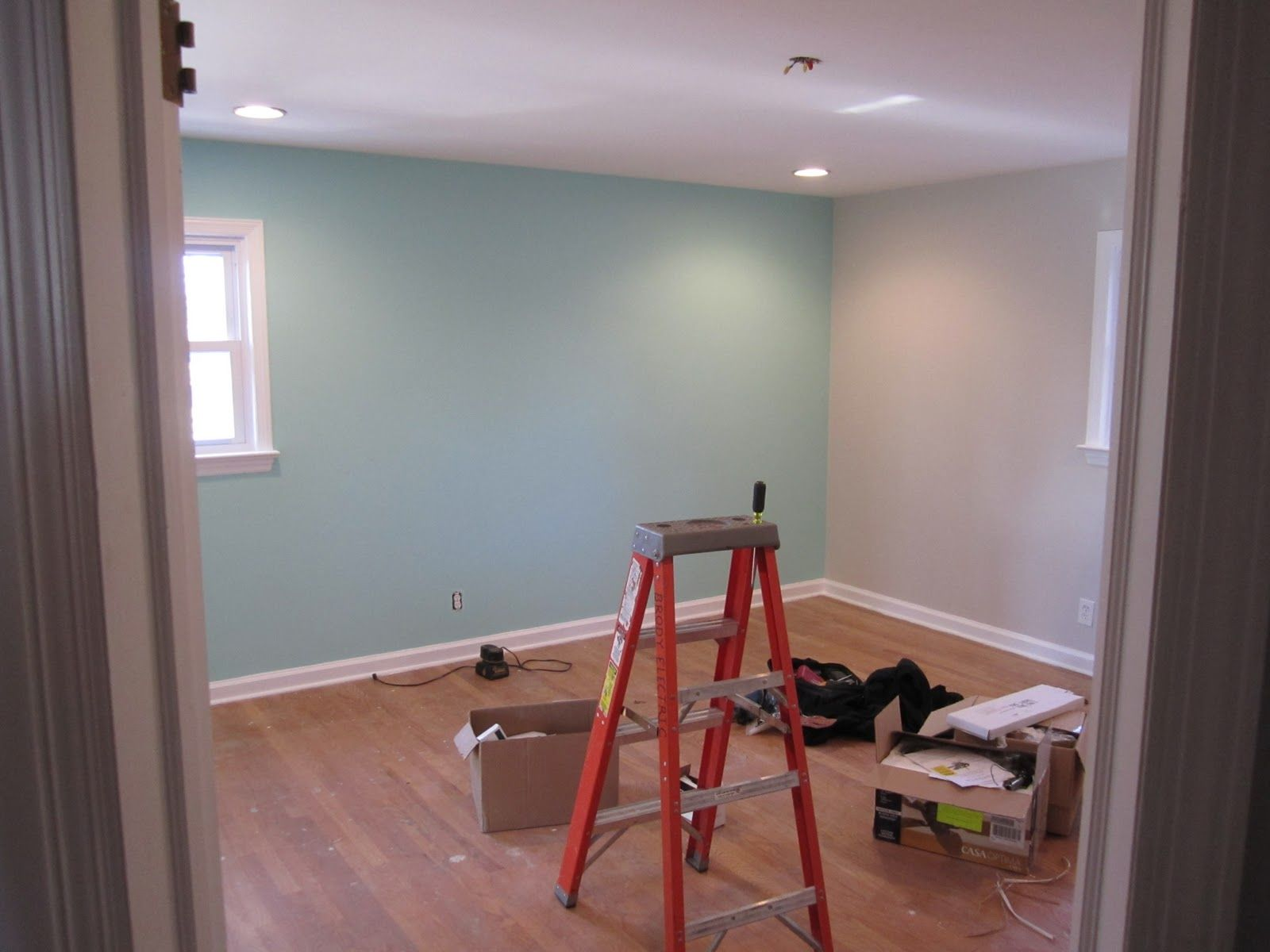 Aqua Accent Wall And Yellow Room Master Bedroom Green