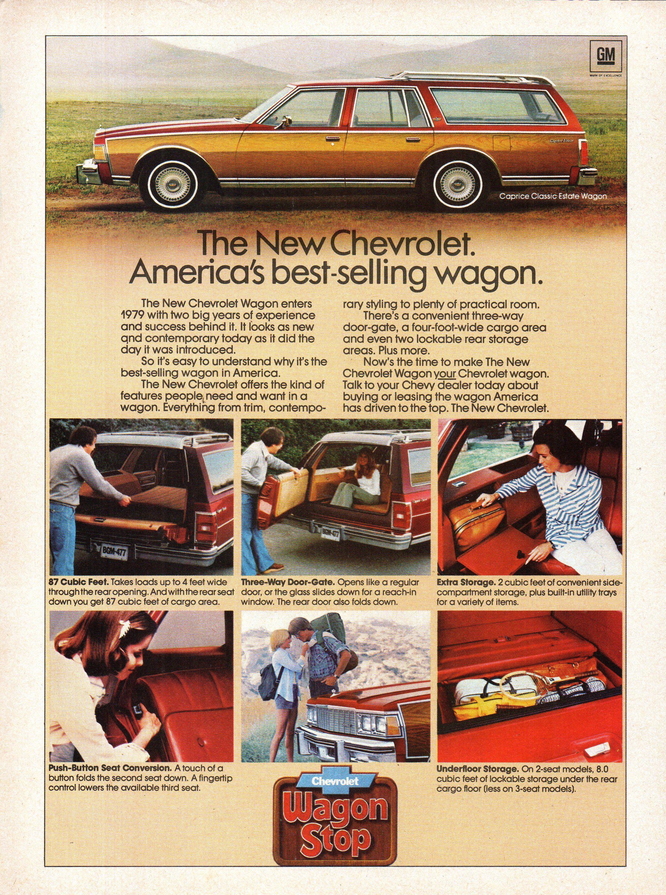 1979 Chevrolet Caprice Classic Estate Wagon USA Original Magazine Advertisement