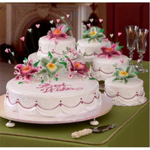 One Layer Wedding Cakes