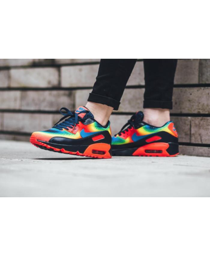low priced 647e5 7dbb7 Nike Air Max 90 Rainbow Hot Heat Cheap
