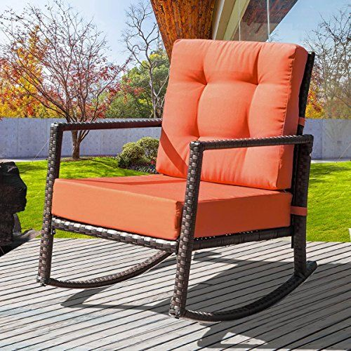 bench patio swing dp wooden glider rocker outdoor ft loveseat gliders porch