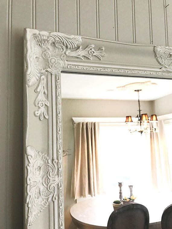 Cottage Chic Bedroom Mirror White And Tan Mirror Cottage Chic