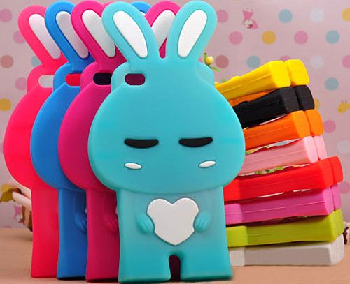 Abons Brand Apple iPhone 4 / 4S Silicone Grip Rabbit Shape Skin Case