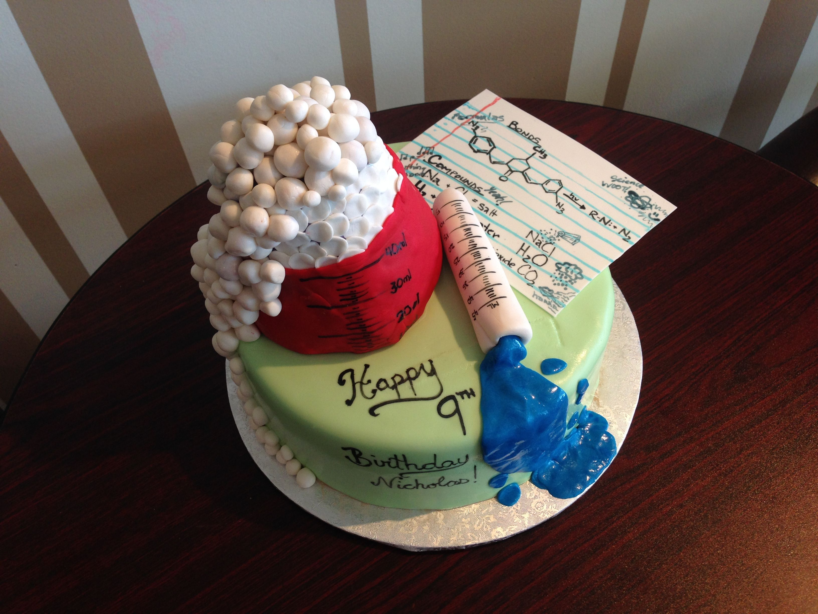 Awesome Science Chemistry Themed Birthday Cake White Rock Bc Nut