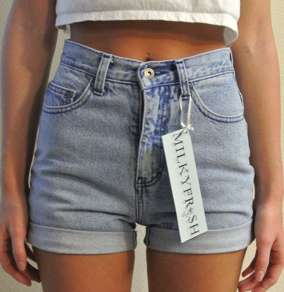 High Waisted Shorts Size 1 / 2 LA Blues Cuffed Denim Milky Fr3sh ...