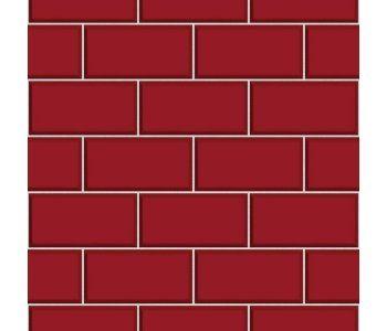 Red Brick Tile Wallpaper Subway Style Brick Effect Red Brick Subway