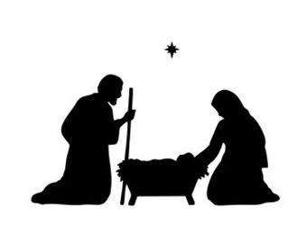 christmas scene stencil svg dxf file instant download silhouette rh pinterest ie nativity clip art free nativity clipart public domain