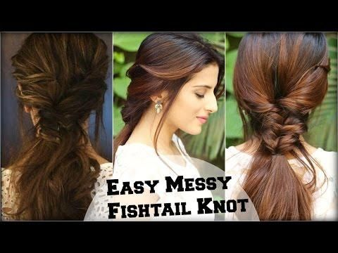 EASY Everyday Messy Fishtail Ponytail For School, College ...