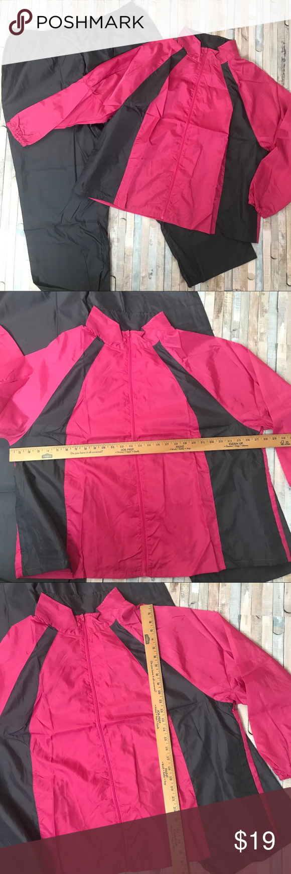 New Pink Gray Track Suit Paragon Plus 3X New Paragon track