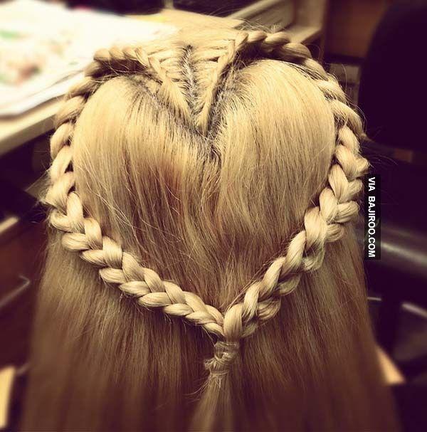 Simple Hairstyle For Wedding Dinner: Hair Styles, Girl Hairstyles, Heart Braid