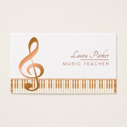 Music Teacher Piano Keyboard Elegant Musical Key Business Card Zazzle Com Music Teacher Teacher Personalized Teacher