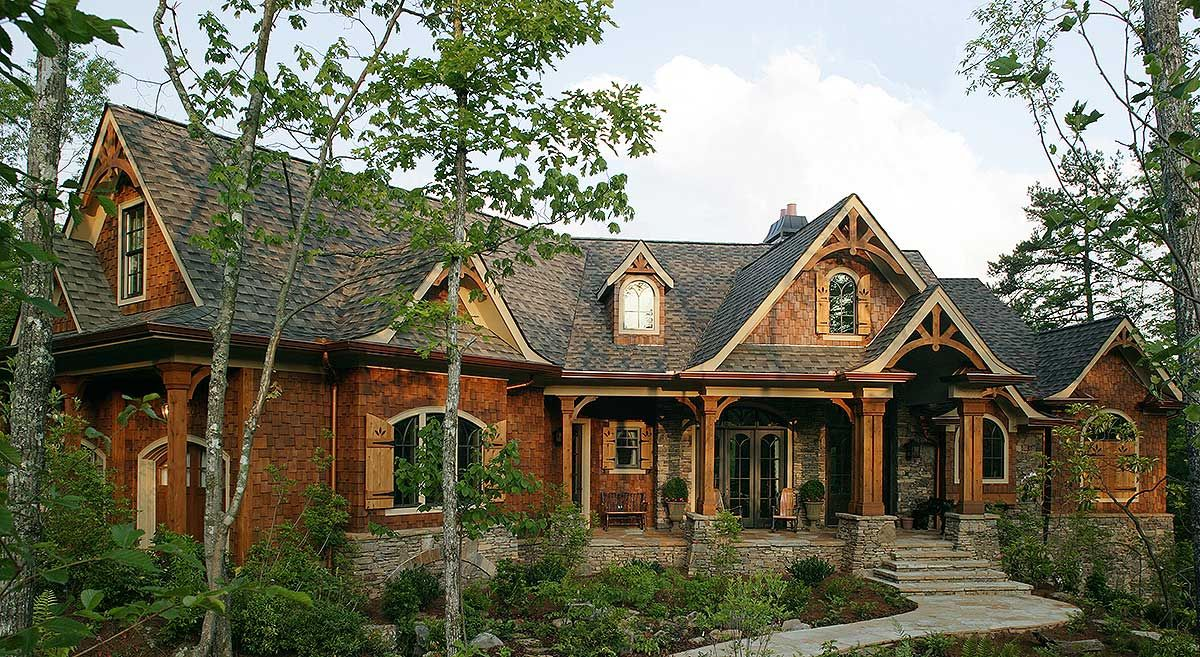 Affordable mountain home plans - Gabled 3 Bedroom Ranch Home Plan 15884ge Craftsman Mountain Ranch Photo