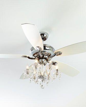Julianne Chrome Fandelier 52d Ceiling Fan Chandelier Chandelier Fan Ceiling Fan With Light