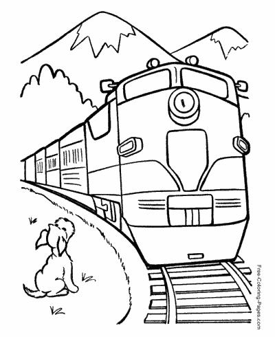 Train Coloring Pages Kolorowanki Ilustracje Szkic