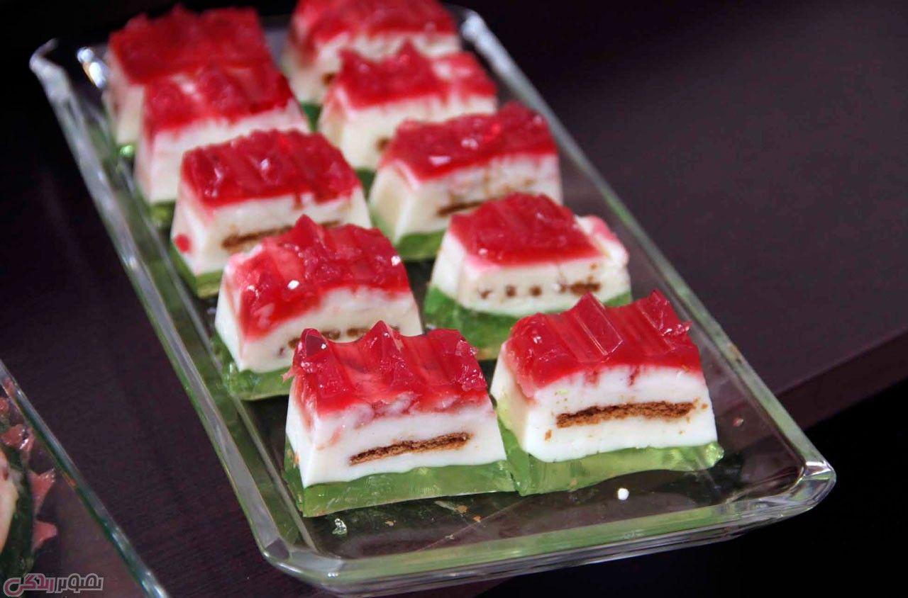طرز تهیه تری تیست دسر سه مزه دستور تهیه دسر مجلسی دسر شب یلدا مجله تصویر زندگی Iranian Desserts Food Desserts