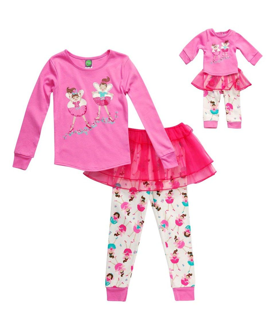 Pink Tutu Pajama Set   Doll Outfit - Toddler   Girls by Dollie   Me   zulilyfinds 9141e4640