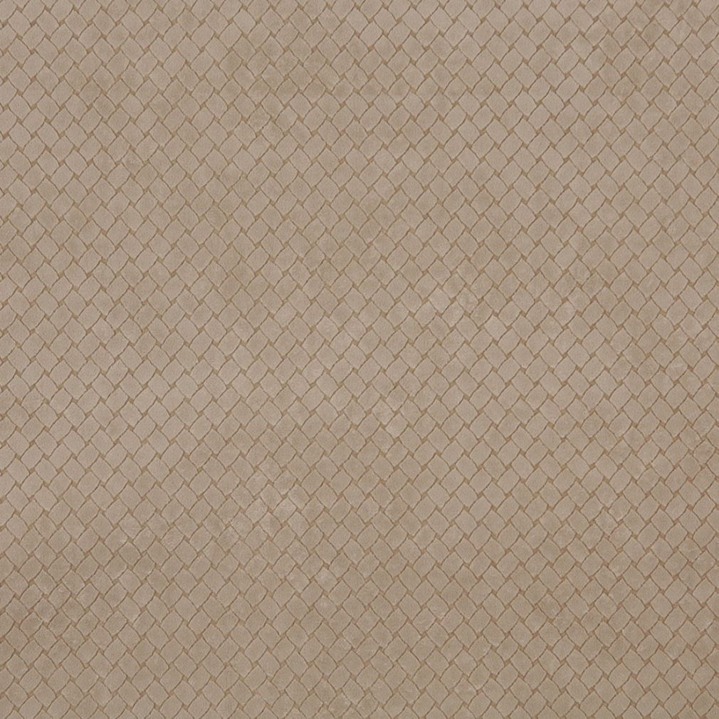 Beige Criss Cross Trellis Microfiber Upholstery Fabric By The