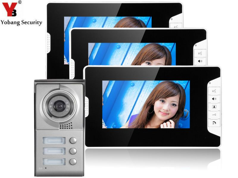 Yobangsecurity 7 Inch Lcd Video Doorbell Night Vision Entry System