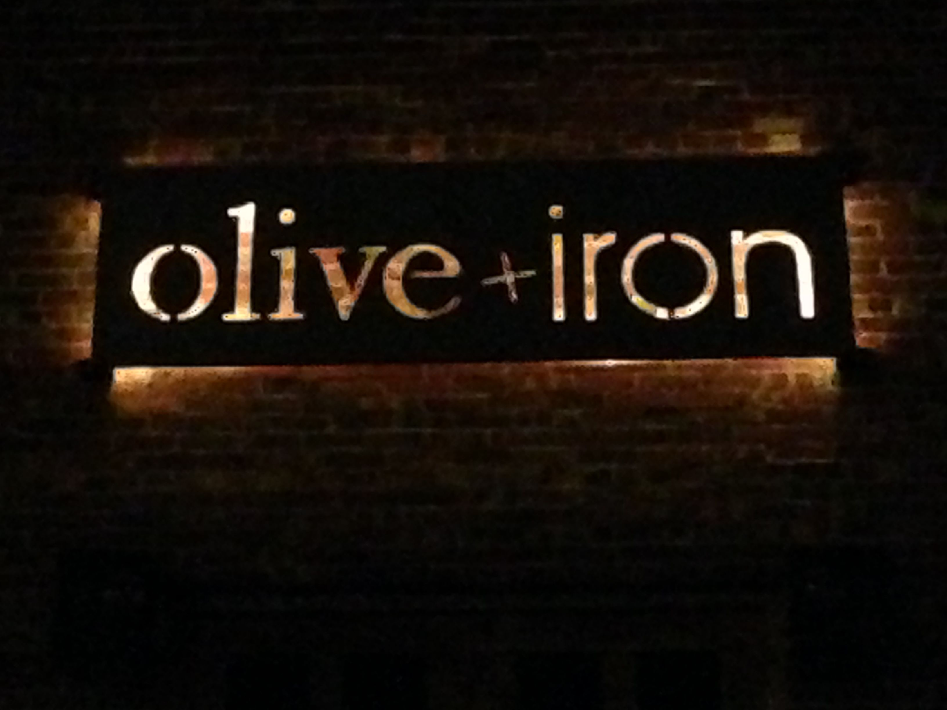 Stainless steal cut out backlit sign    Iron and Wood Creations by