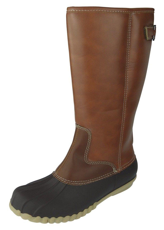 outwoods womenu0027s autumn4 twotone midcalf zipper duck boot rain boot - Duck Rain Boots