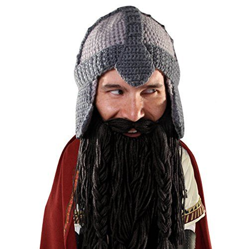 da1e81f435b Beard Head The Original Barbarian Warrior Knit Beard Hat Black     Check  out the image by visiting the link. (This is an affiliate link)   WinterHatsforMen