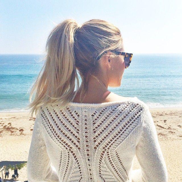 Women S Lc Lauren Conrad Pointelle Back Sweater Jolie Coiffure Coiffure De Plage Coiffure Facile