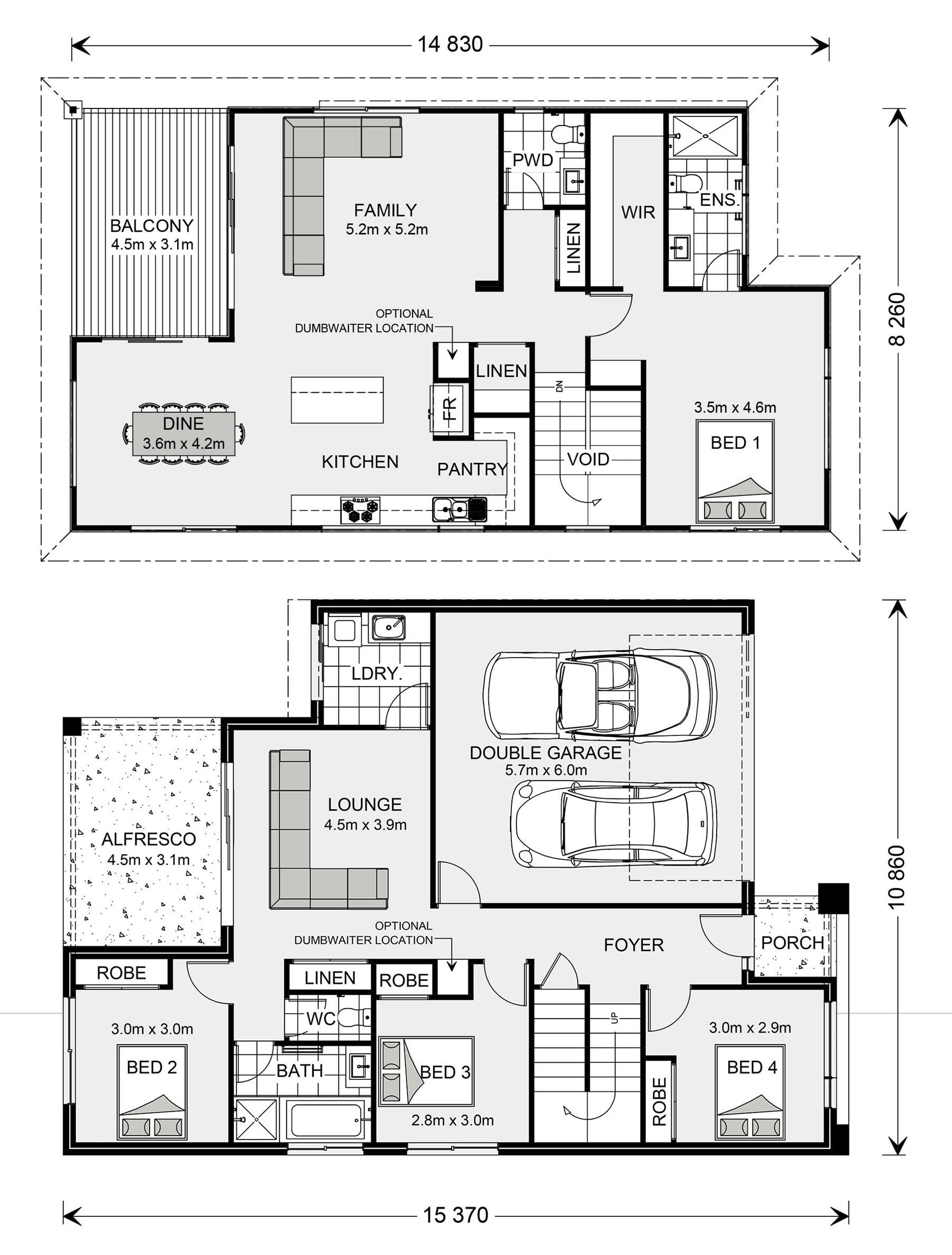 Sorrento Home Designs In Melbourne Nw Essendon G J Gardner Homes House Plans Australia Double Story House House Plans