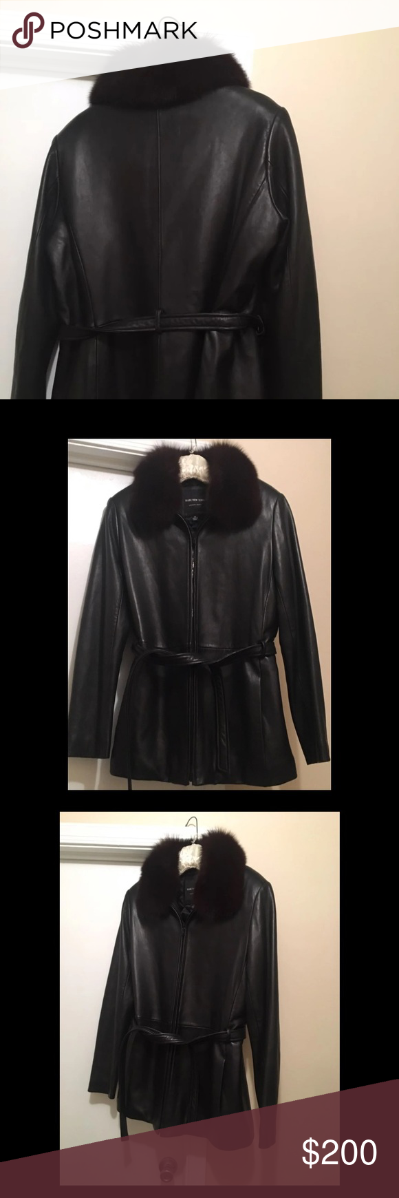 Andrew Marc Leather and Fox Fur Jacket Fox fur jacket