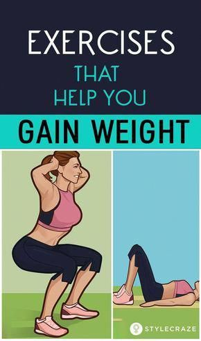 Top 10 Exercises That Help You Gain Weight: People with a desire to put on weight are required to ex...