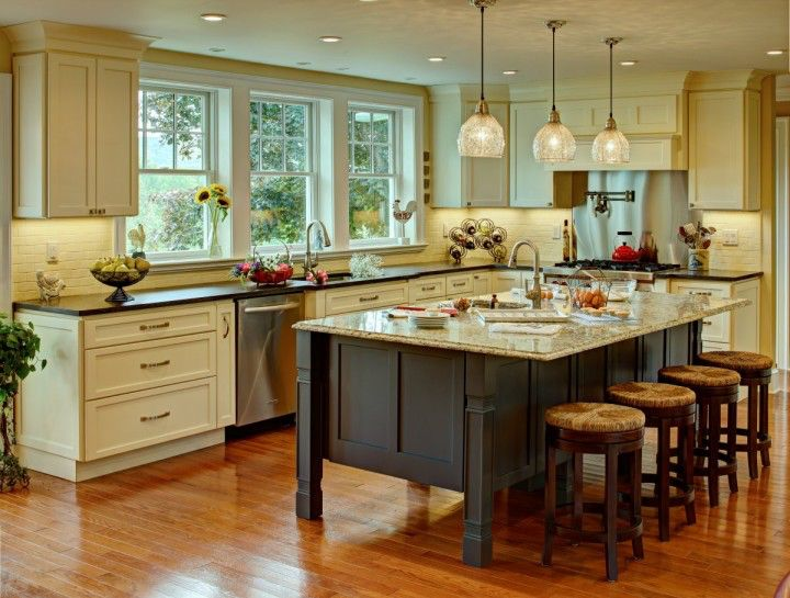 Image from http://www.stupic.com/images/classic-elegant-farmhouse-kitchen-with-a-kitchen-island-and-rustic-white-ceiling-design-720x545.jpg.