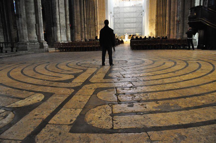 Laberinto catedral de Chartres (Francia).