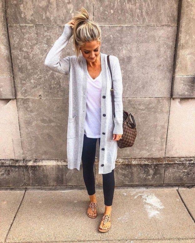 40 Schöne und bequeme Herbstoutfit-Ideen für den Alltag – X Mode Frauen