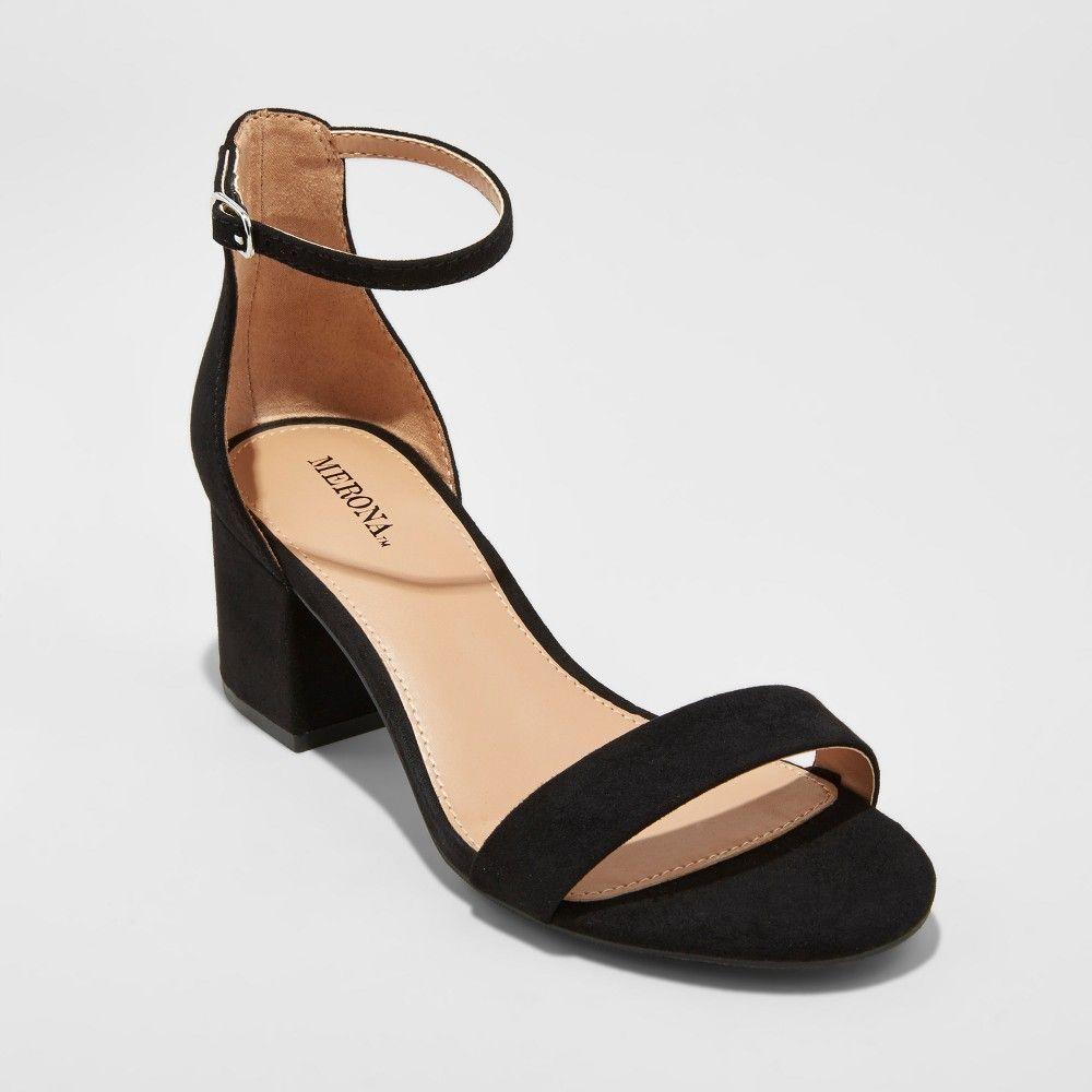 ecc386547e45 Women s Marcella Wide Width Block Heel Sandal Pumps - Merona Black ...