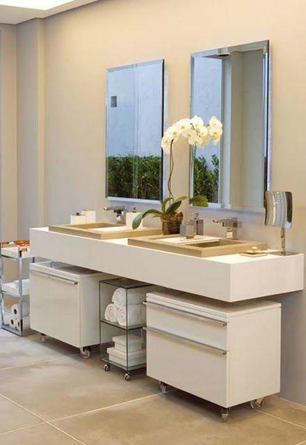 Decoração – Armários no Banheiro  Armário, Banheiros e Lavabos -> Decoracao Armario Banheiro