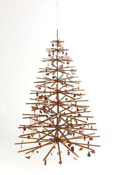 Wooden Hanging Ceiling Xmas Tree