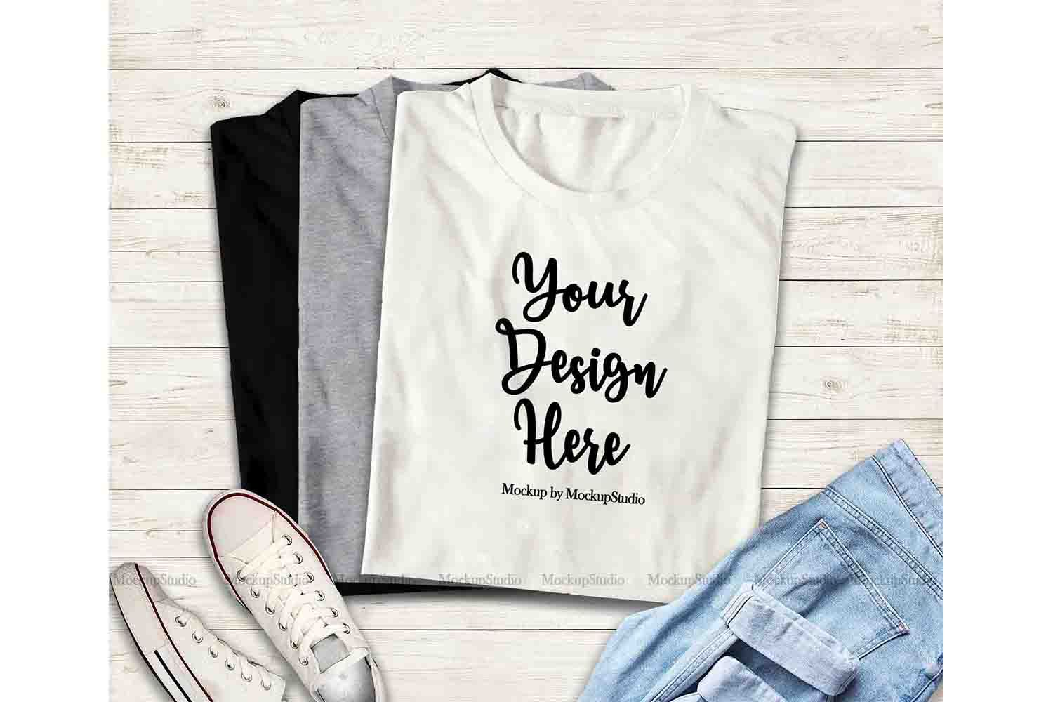 Download Multiple Colors Folded Tshirts Mockup Stacked Shirts 184032 Clothing Design Bundles In 2021 Design Mockup Free Psd Template Free Free Psd Design