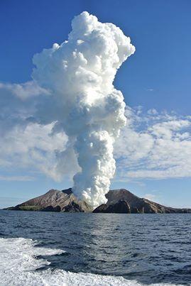 White Island in the Bay of Plenty, NZ #newzealandwalkingtours {#newzealandwalkingtrails#newzealandwalkingtracks}