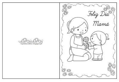 Tarjetas Día De La Madre Para Colorear Dia De Las Madres Día De La Mama Tarjetas