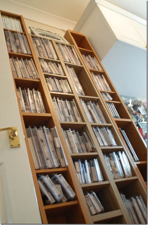 An Idea For The Craft Room DVD Shelves Stamp Sets