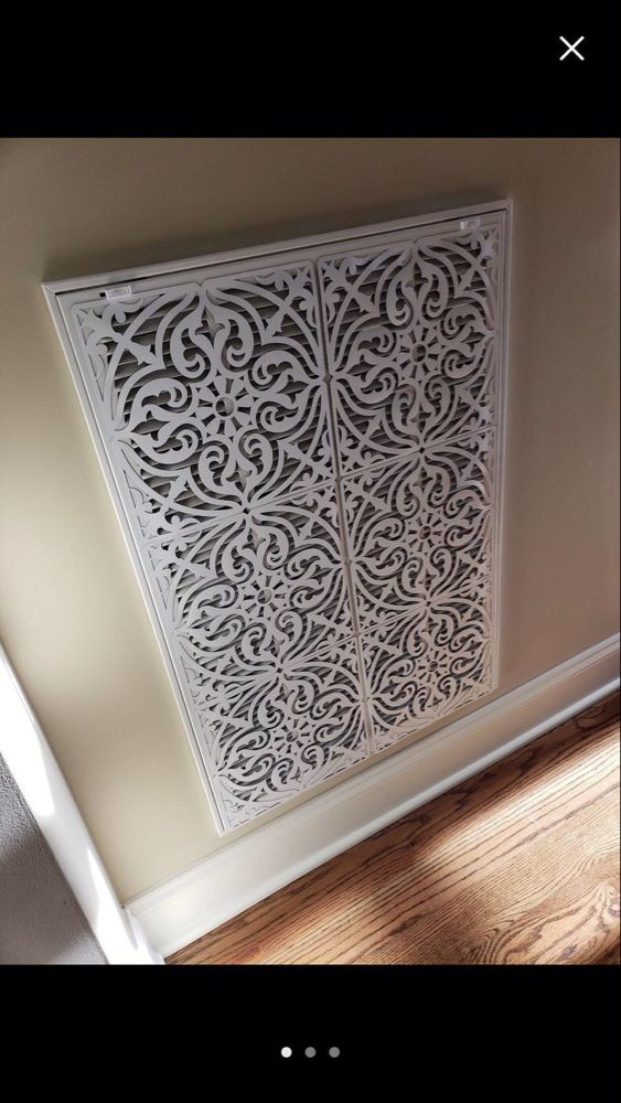Decorative Floor Air Return Vent Covers / Round Ceiling Vent Cover - Decorative Return Air Grille - Floor vent covers come in a range of styles, from vertical slits to intricate designs.