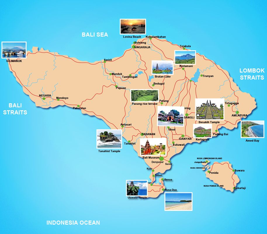 tourist map of bali indonesia | Bali Tour Packages « Sam Bali Car ...
