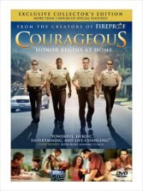 Courageous.  Should be sold with a box of tissues!  One of the greatest movies ever :)