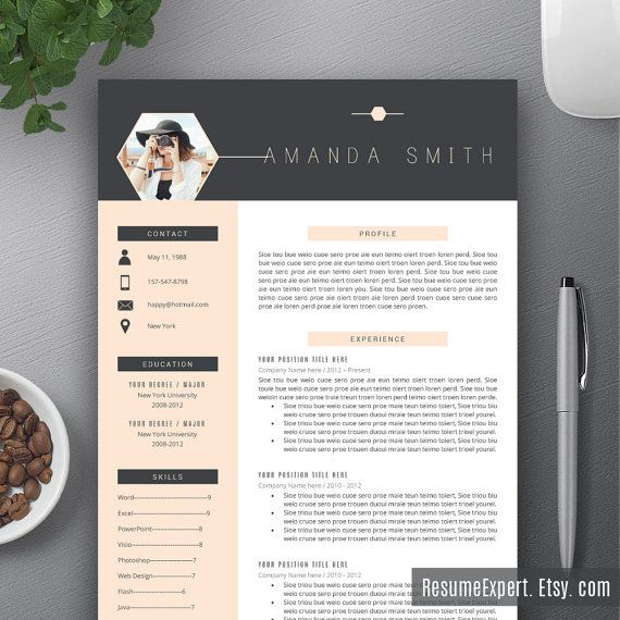 2020 Professional Resume Templates, CV Bundle, Compatible with MS Word, Creative and Modern Resume, 1, 2, 3 Page Resume, Instant Download